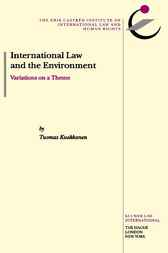 International law and the environment by T. Kuokkanen