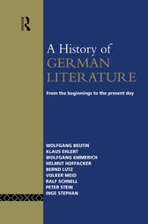 A History of German Literature by Wolfgang Beutin