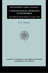 Buddhist Forum Volume V by K. R. Norman