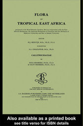 Flora of tropical East Africa - Callitrichaceae (2003) by H.J. Beentje