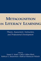 Metacognition in Literacy Learning by Susan E. Israel