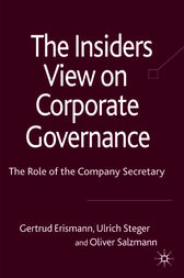 The Insider's View on Corporate Governance by Erik Banks