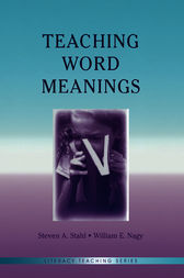 Teaching Word Meanings by Steven A. Stahl