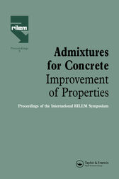 Admixtures for Concrete - Improvement of Properties by E. Vazques