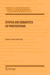 Syntax and Semantics of Prepositions by Patrick Saint-Dizier