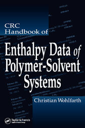 CRC Handbook of Enthalpy Data of Polymer-Solvent Systems by Christian Wohlfarth