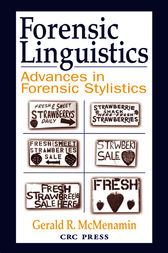 Forensic Linguistics by Gerald R. McMenamin