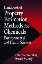 Handbook of Property Estimation Methods for Chemicals by Donald Mackay