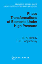 Phase Transformations of Elements Under High Pressure by E. Yu Tonkov
