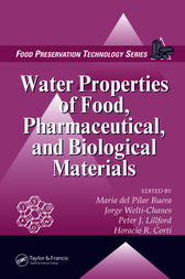 Water Properties of Food, Pharmaceutical, and Biological Materials by Maria del Pilar Buera
