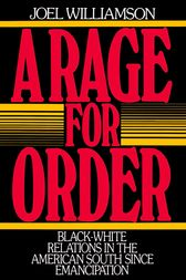 A Rage for Order by Joel Williamson