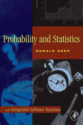 Probability and Statistics by Ronald Deep