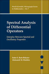 Spectral Analysis Of Differential Operators by Fedor S Rofe-Beketov