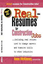 Download Ebook Real-Resumes for Construction Jobs by Anne McKinney Pdf