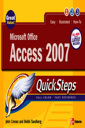 Microsoft Office Access 2007 QuickSteps by John Cronan