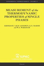 Measurement of the Thermodynamic Properties of Single Phases by Anthony Goodwin
