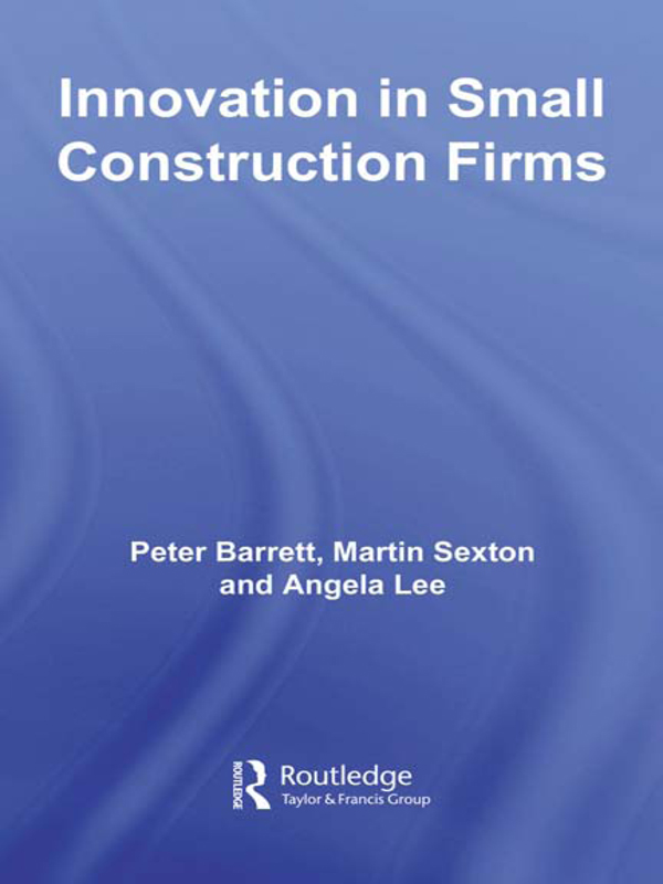 Download Ebook Innovation in Small Construction Firms by Peter Barrett Pdf