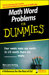 Math Word Problems For Dummies by Mary Jane Sterling