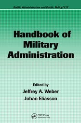 Handbook of Military Administration by Jeffrey A. Weber