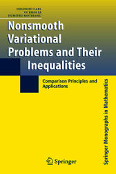 Nonsmooth Variational Problems and Their Inequalities by Siegfried Carl