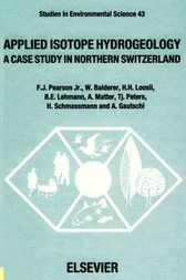 Applied Isotope Hydrogeology by F. J. Pearson