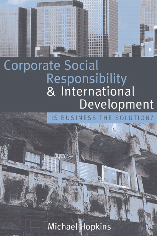Download Ebook Corporate Social Responsibility and International Development by Michael Hopkins Pdf
