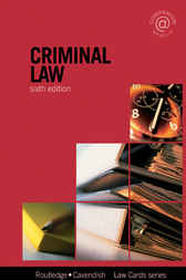 Criminal Lawcards 6/e by Routledge