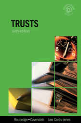 Trusts Lawcards 6/e by Routledge
