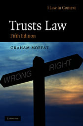 Trusts Law by Graham Moffat