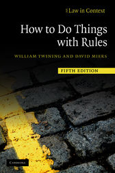 How to Do Things with Rules by William Twining