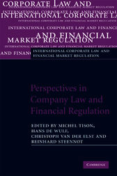 Perspectives in Company Law and Financial Regulation by Michel Tison