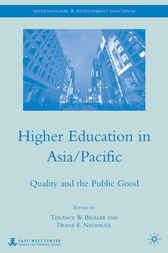 Higher Education in Asia/Pacific by Terance W. Bigalke