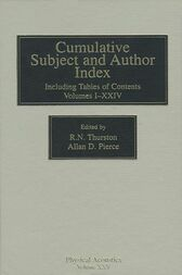 Cumulative Subject and Author Index, Including Tables of Contents Volumes 1-23 by R. N. Thurston