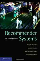 Recommender Systems by Dietmar Jannach