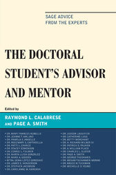 The Doctoral StudentOs Advisor and Mentor by Raymond L. Calabrese