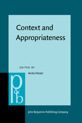 Context and Appropriateness by Anita Fetzer