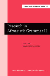 Research in Afroasiatic Grammar II by Jacqueline Lecarme