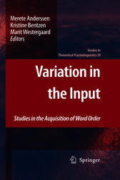 Variation in the Input by Merete Anderssen