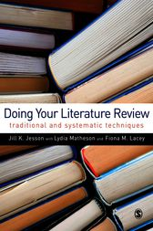 Doing Your Literature Review by Jill Jesson
