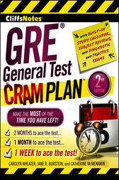 CliffsNotes GRE General Test Cram Plan by Carolyn Wheater