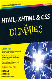 HTML, XHTML and CSS For Dummies by Ed Tittel