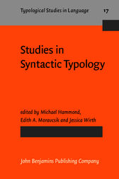 Studies in Syntactic Typology by Michael Hammond