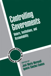Controlling Governments by José María Maravall