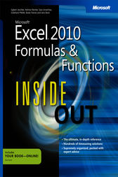 Microsoft Excel 2010 Formulas and Functions Inside Out by Egbert Jeschke