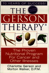 The Gerson Therapy by Charlotte Gerson