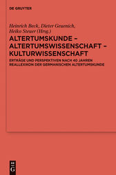 Altertumskunde – Altertumswissenschaft – Kulturwissenschaft by Heinrich Beck