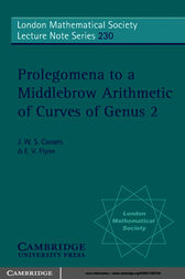 Prolegomena to a Middlebrow Arithmetic of Curves of Genus 2 by J. W. S. Cassels