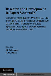 Research and Development in Expert Systems IX by M. A. Bramer