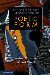 Poetic Form: An Introduction by Michael D. Hurley