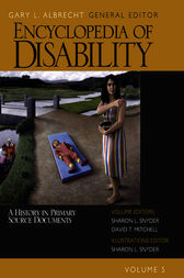 Encyclopedia of Disability by Gary L. Albrecht